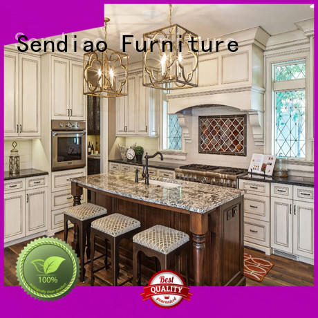 Sendiao Furniture High-quality solid wood kitchen cupboards for business four-star hotel
