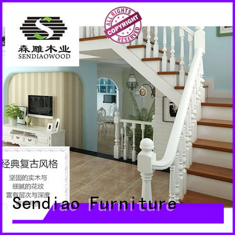 Sendiao Furniture American style wooden staircase design sds03 Three-star Hotel