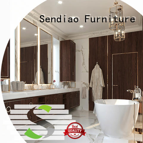 Sendiao Furniture Latest wooden wardrobe closet company three-star hotel
