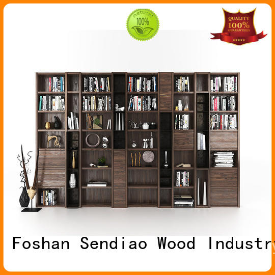 Sendiao Furniture wood solid wood bookcases manufacturers a living room