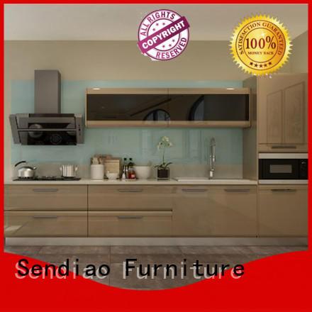 Best wood kitchen cabinets sdk09 Supply exhibition hall