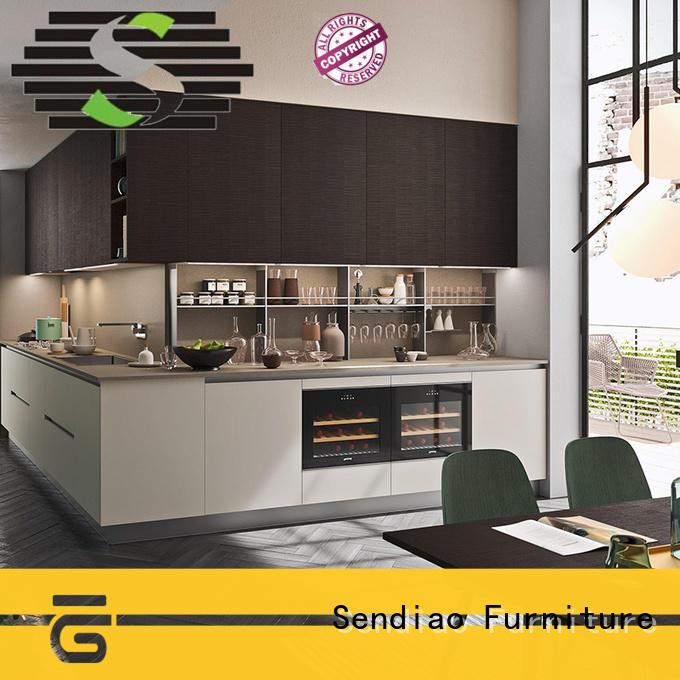 Custom hardwood kitchen cabinets fashion Supply a living room