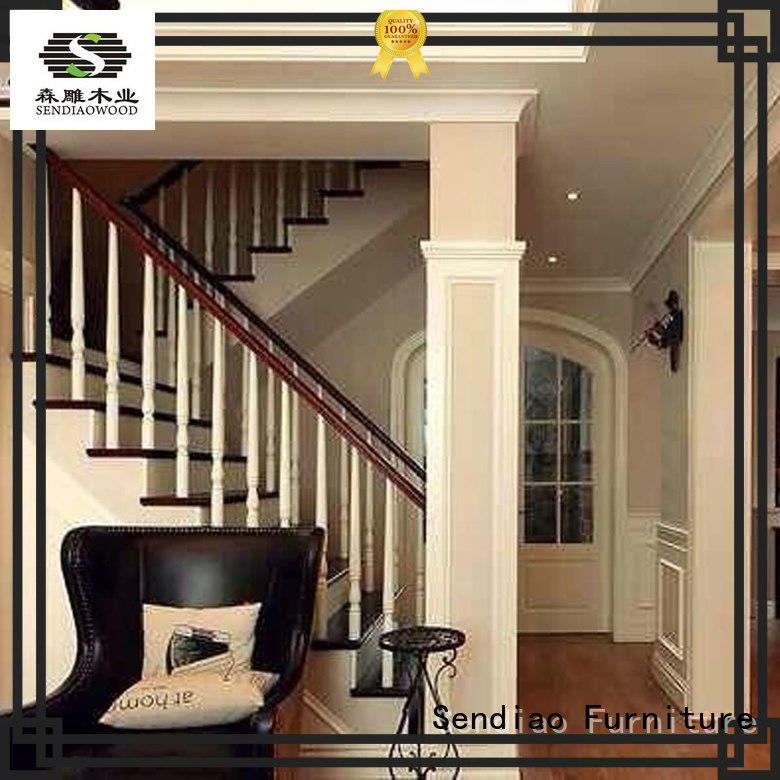 Sendiao Furniture stairs wooden staircase Simplicity Three-star Hotel