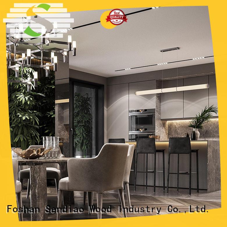 Sendiao Furniture New wood kitchen cabinets company exhibition hall