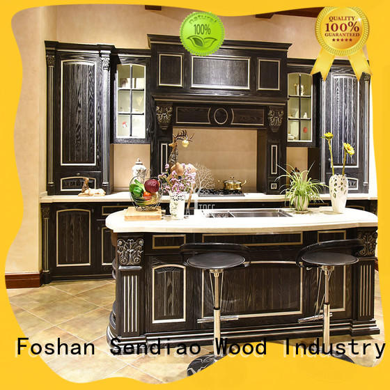 High-quality hardwood kitchen cabinets cabinet factory a living room