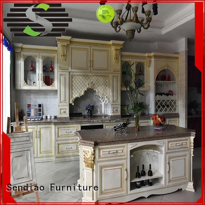 hardwood kitchen cabinets wooden Fivestar Hotel Sendiao Furniture