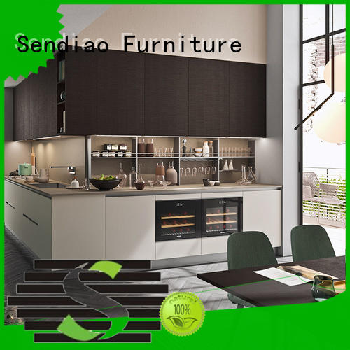 Sendiao Furniture luxury real wood kitchen cabinets Supply four-star hotel