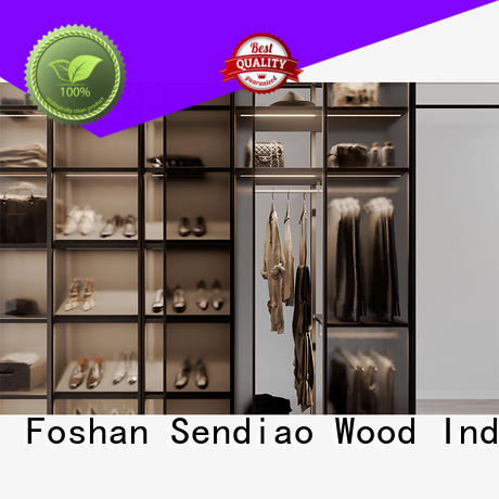 Sendiao Furniture Latest wood armoire wardrobe company four-star hotel