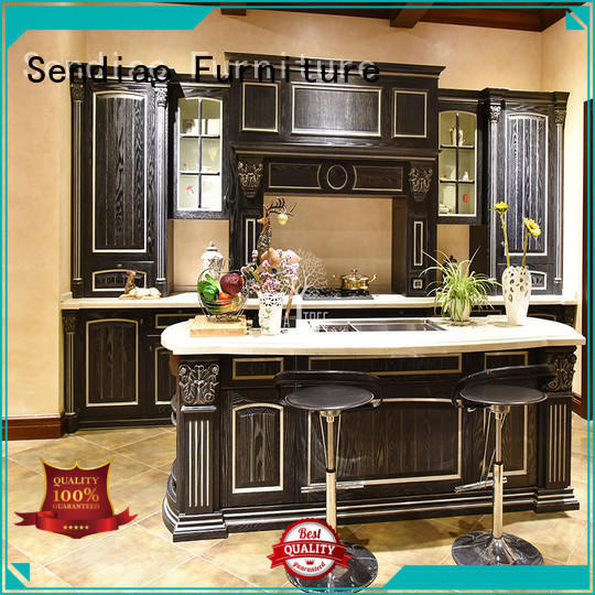 Sendiao Furniture The latest generation solid wood kitchen cupboards for business chateau