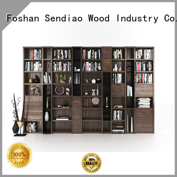 Sendiao Furniture three bespoke bookcases supply four-star hotel