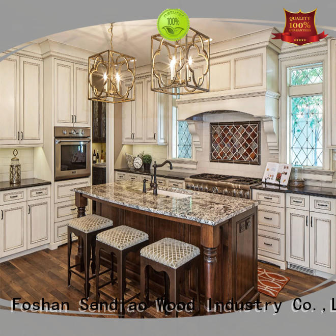solid modular kitchen cabinets style A living room Sendiao Furniture