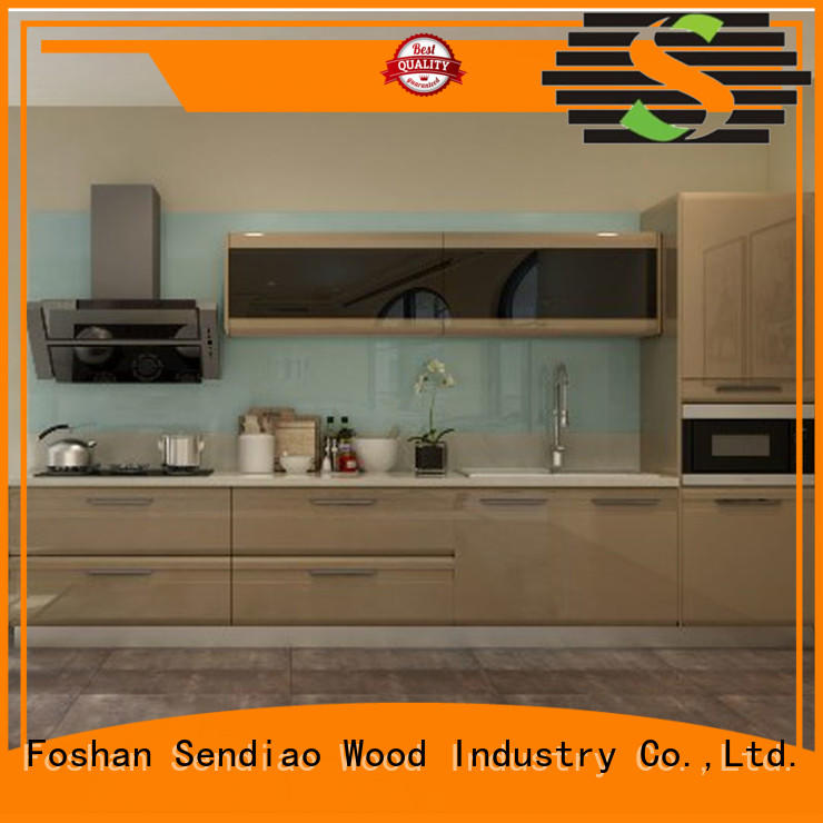 Sendiao Furniture Simplicity solid wood kitchen cabinets for business study