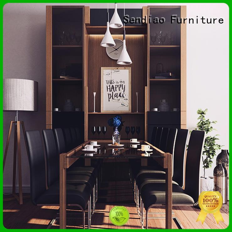 High-quality wooden bookcase threepiece factory three-star hotel