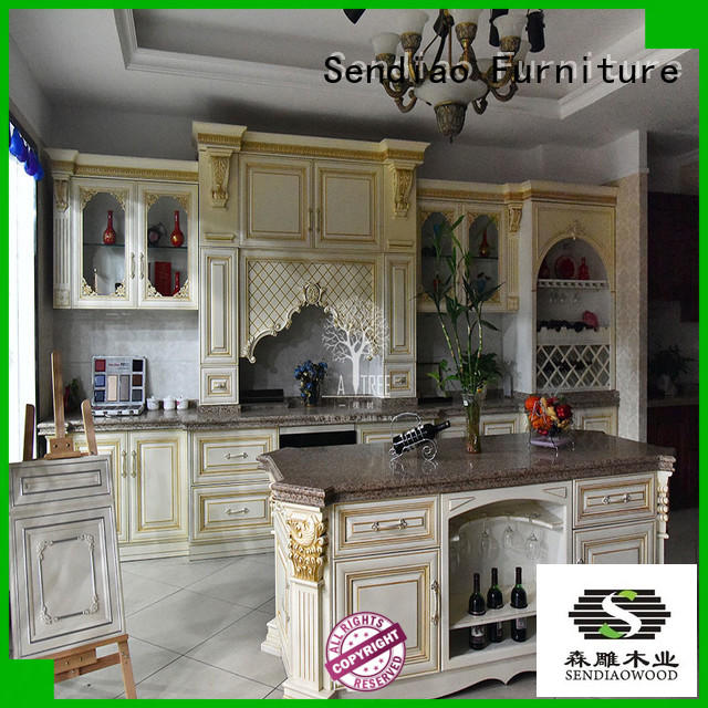 sdk01 contemporary kitchen cabinets low price A living room Sendiao Furniture