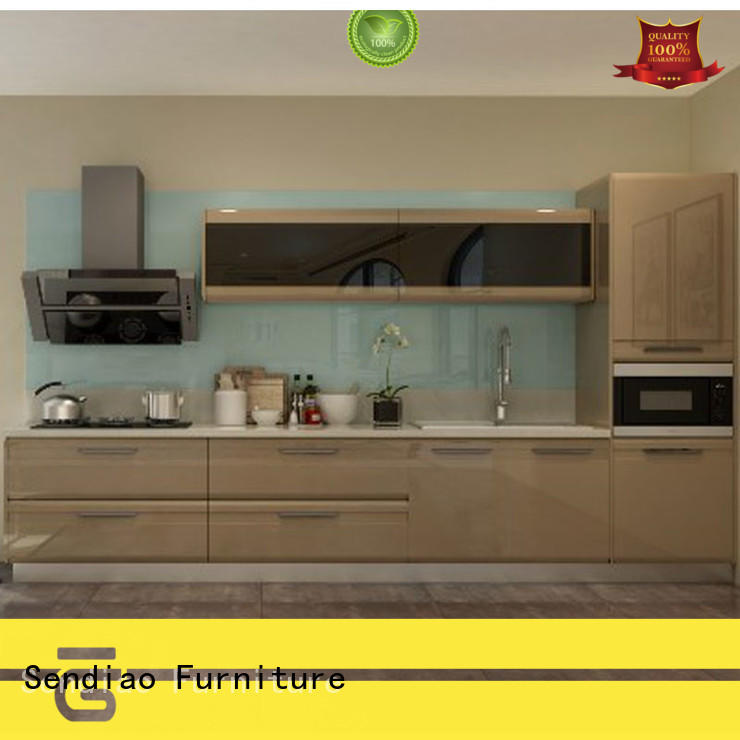 Sendiao Furniture sdk06 solid wood kitchen cupboards classical Chateau