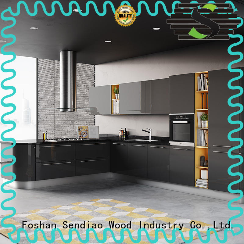 Promotion solid wood kitchen cupboards sdk08 supply study
