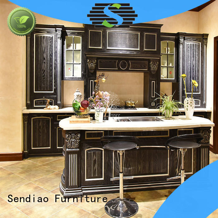 Sendiao Furniture Best solid wood kitchen cupboards Supply chateau