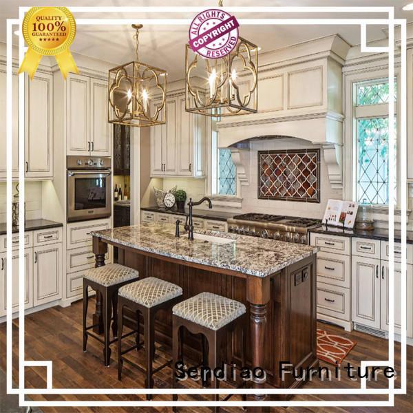 Sendiao Furniture lacquer modular kitchen cabinets company exhibition hall