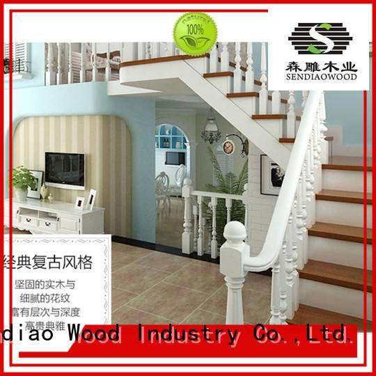 stairs wooden staircase design spiral A living room Sendiao Furniture