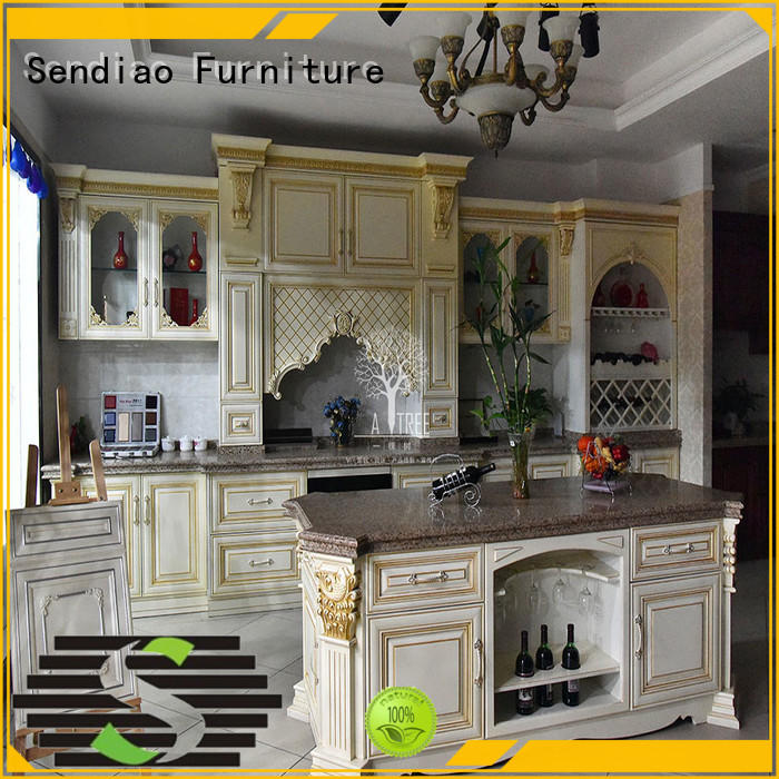 wooden kitchen cupboards sdk07 A living room Sendiao Furniture