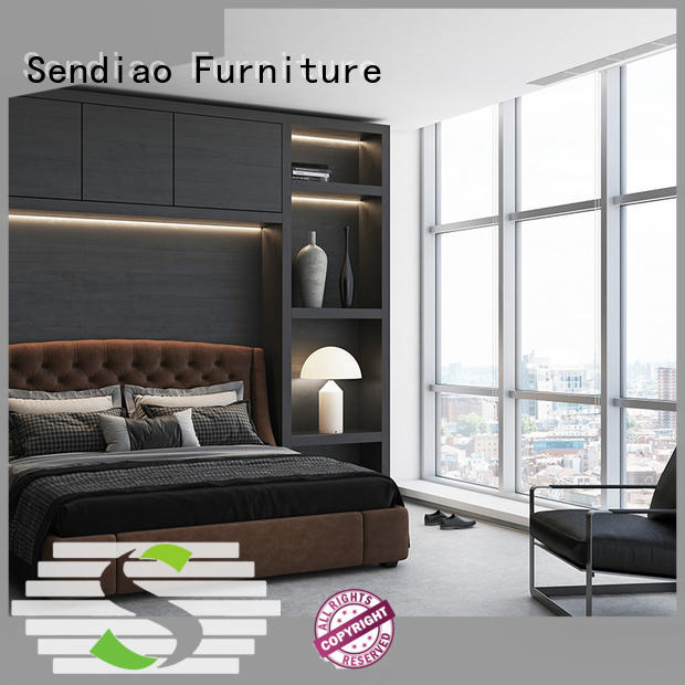 Sendiao Furniture New products wooden clothes wardrobe supply three-star hotel