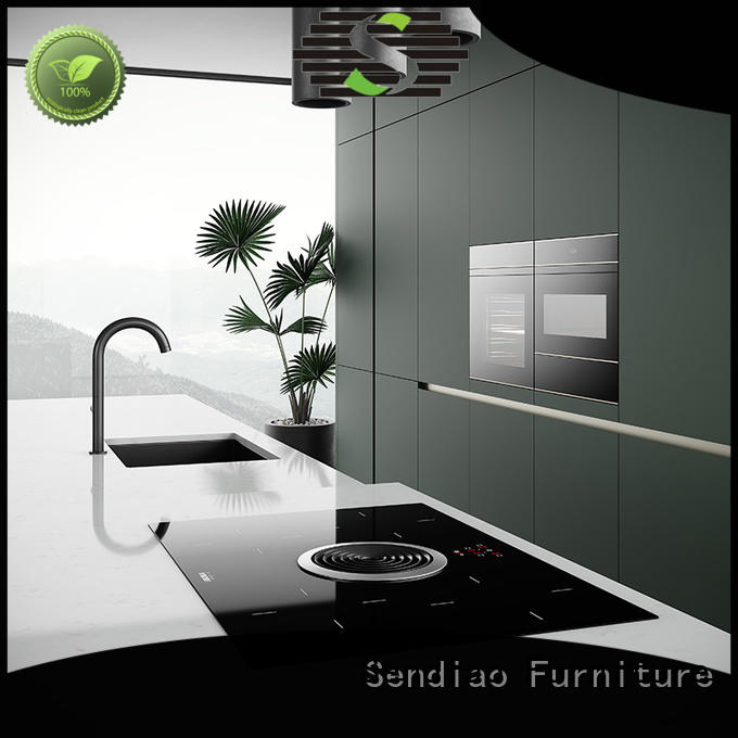 Sendiao Furniture elegance hardwood kitchen cabinets factory four-star hotel