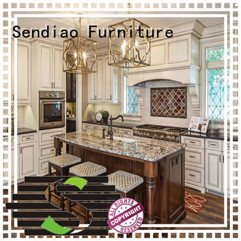 cabinet wooden kitchen cupboards classical Chateau Sendiao Furniture