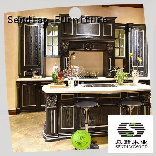 Sendiao Furniture low price oak wood kitchen cabinets Promotion Bedroom