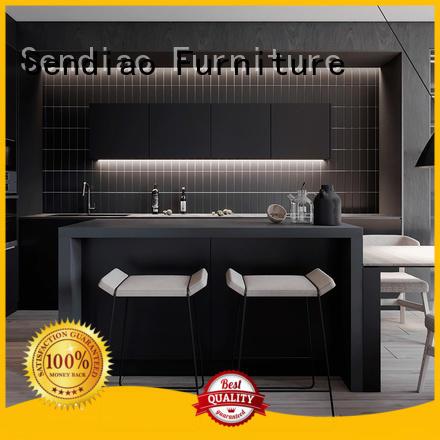 Latest solid wood kitchen cabinets sdk08 company three-star hotel