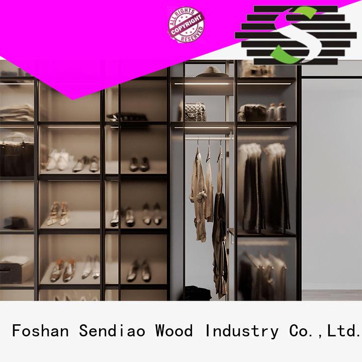 Sendiao Furniture sdw04 wooden wardrobe American style Three-star Hotel