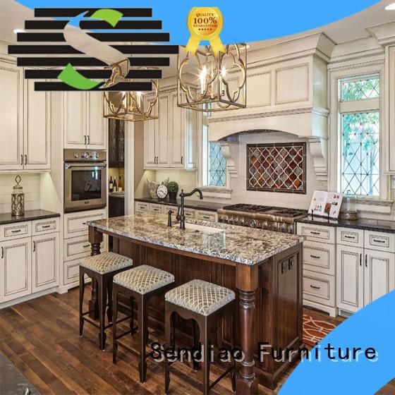 style real wood kitchen cabinets luxury Fivestar Hotel Sendiao Furniture