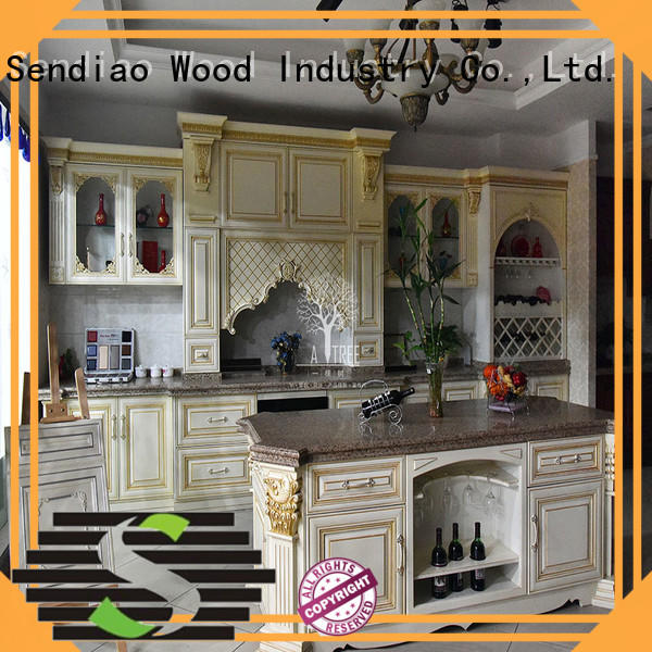 Sendiao Furniture style wooden kitchen cupboards for business exhibition hall