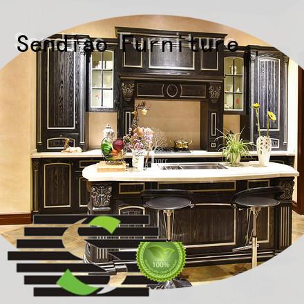 sdk01 best kitchen cabinets elegance Exhibition hall Sendiao Furniture