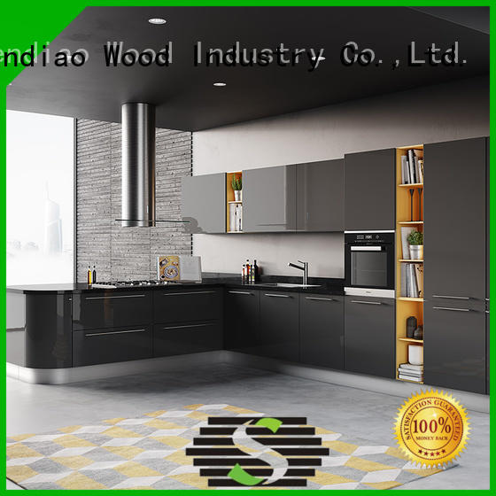 Sendiao Furniture High-quality solid wood kitchen cupboards manufacturers four-star hotel