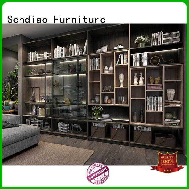 Sendiao Furniture High-quality bespoke bookshelves Supply exhibition hall