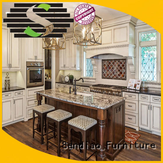 Sendiao Furniture American style custom kitchen cabinets American style A living room