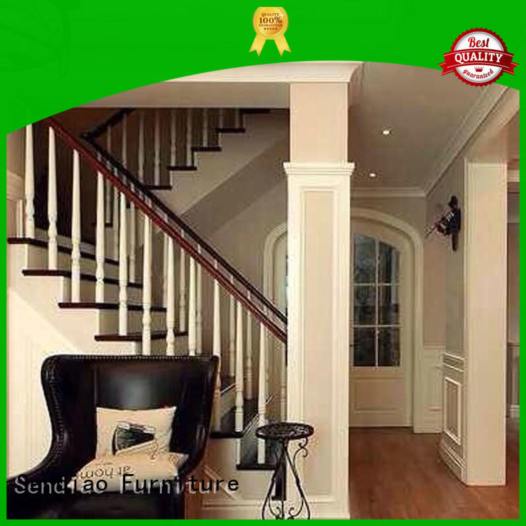 Simplicity wooden staircase elegance A living room