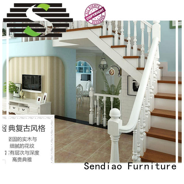 stairs modern wood stairs solid Three-star Hotel Sendiao Furniture