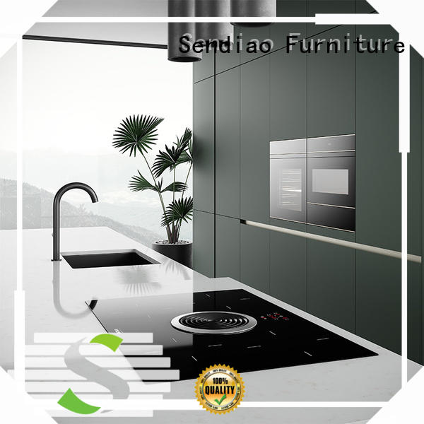 Sendiao Furniture wood contemporary kitchen cabinets factory exhibition hall