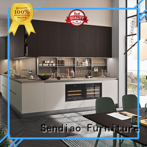 Sendiao Furniture solid custom wood kitchen cabinets suppliers fivestar hotel