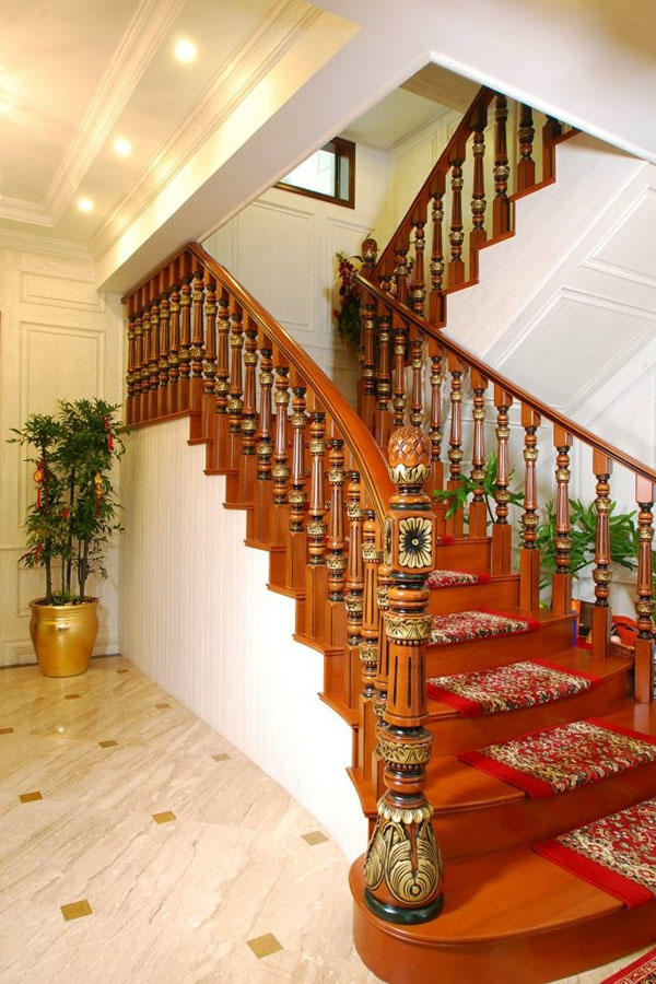 Sendiao Furniture New wooden staircases manufacturers three-star hotel-3